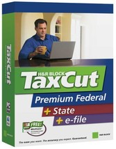 H&R Block Taxcut 2006 Premium Federal + State + Efile [CD-ROM] [CD-ROM] - $7.92