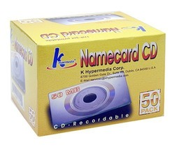 KHypermedia 50 MB Business Card CD-R Discs (50-Pack with Plastic Sleeves) - $34.64