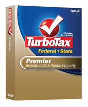 TurboTax Premier Federal + State 2007 [OLD VERSION] [CD-ROM] [CD-ROM] - $7.14