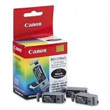 Canon Bci11bk Bci-11 Ink Tank 60 Page-Yield 3 Pack Black Less Downtime Reduce... - $9.36