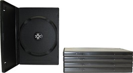 5 Standard Premium Black Single DVD Boxes with Wrap Around Sleeve #DVBR1... - $6.03