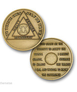 AA ALCOHOLICS ANONYMOUS 20 YEAR RECOVERY SOBRIETY USA MADE  CHALLENGE  COIN - £11.79 GBP