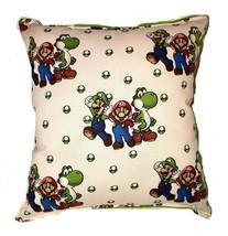 Mario Luigi Yoshi Pillow SuperMario Pillow Handmade In USA Nintendo Game... - $10.49