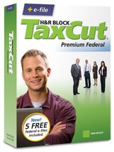 H&R Block TaxCut 2008 Premium Federal + e-file [OLD VERSION] [CD-ROM] [C... - $9.80