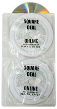 25 White 4-Disc CD DVD Fabric-Lined Ring Binder Wallet Sleeves CRY-4SVWH... - $7.93