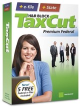 H&R Block TaxCut 2008 Premium Federal + State + e-file [OLD VERSION] [CD-ROM] - $9.84
