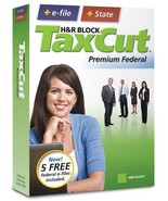H&R Block TaxCut 2008 Premium Federal + State + e-file [OLD VERSION] [CD... - $9.84