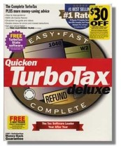 Quicken TurboTax Deluxe {Federal Return Tax Year 1999} [CD] [CD-ROM] - $32.13