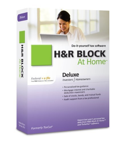 Primary image for H&R Block At Home 2010 Deluxe Federal + eFile [Old Version] [CD-ROM] [CD-ROM]...