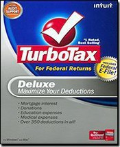 Intuit Inc. Turbotax 2008 Deluxe Federal Returns Efile Maximizes Your Ta... - $22.17