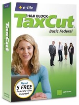 H&R Block Tax Cut 2008 Basic Federal + E File [Old Version] [Cd Rom] [Cd Rom] - $9.89