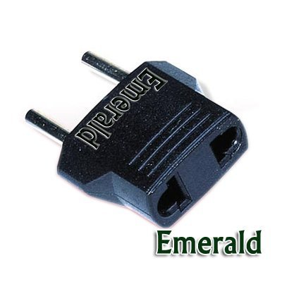 Primary image for Emerald American to European Outlet Plug Adapter [Unknown Binding] by