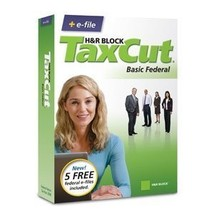 H&R Block TaxCut 2008 Basic Federal + e-file for Windows/Mac [CD-ROM] [C... - $4.94