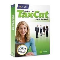 H&R Block TaxCut 2008 Basic Federal + e-file for Windows/Mac [CD-ROM] [C... - $4.94