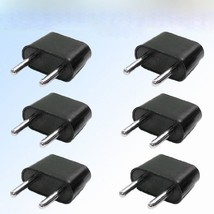 Generic EU-6PK 6-Pack American to European Outlet Plug Adapter [Electron... - $6.99