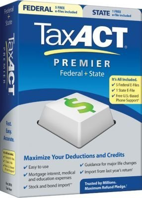 Primary image for 2010 TaxACT Premier Federal + State + eFiles [CD-ROM] [CD-ROM]