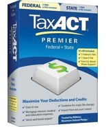 2010 TaxACT Premier Federal + State + eFiles [CD-ROM] [CD-ROM] - $19.75