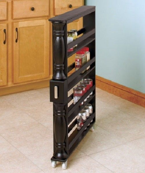 Pull Out Spice Rack Drawer Kitchen Storage Organizer 4