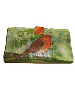 VINTAGE WOMEN'S HAND PAINTED LEATHER BIFOLD CLU... - $9.00
