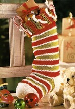 W435 Knit PATTERN ONLY Knit So-Simple Christmas Stocking Pattern - $8.50