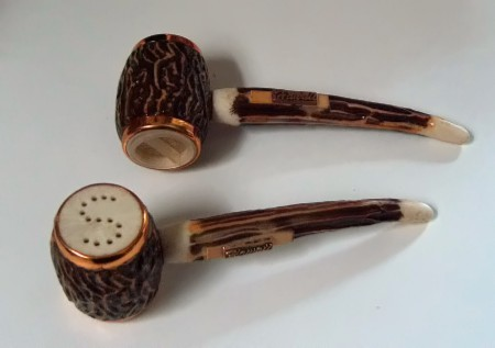 Vintage Pipe Salt and Pepper Shakers Hawaii