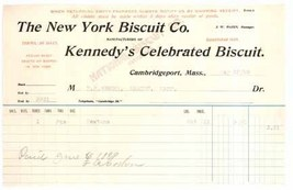 Kennedy's Biscuit 1899 invoice waybill NY Cambridgeport MA advertising e... - $6.50