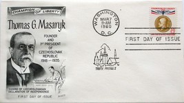 March 7, 1960 First Day of Issue, Fleetwood Cover, 8c Thomas G. Masaryk #83 - $2.39