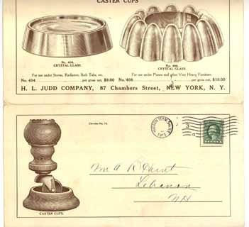 Judd Co 1913 brochure furniture caster cups NY advertising antique vintage