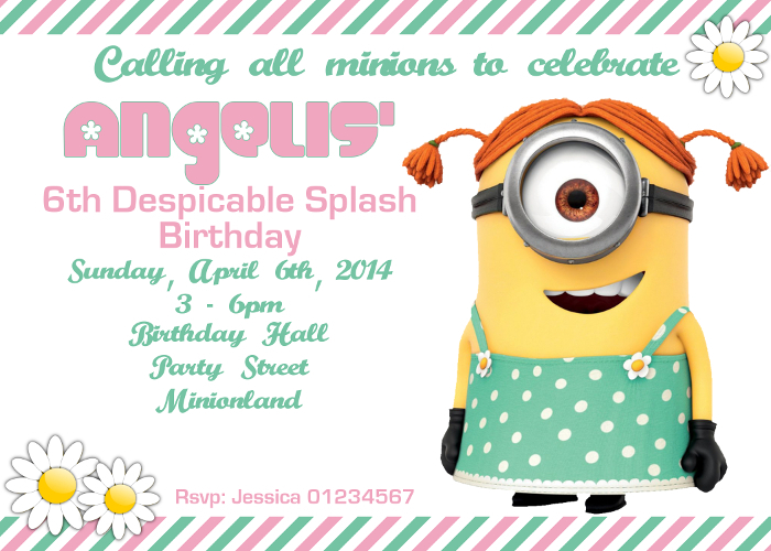 graphic about Minions Printable Invitations identify CVS Invitation: 1 client overview and 22 listings