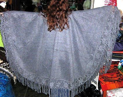 Alpaca wool fabrik Poncho, outerwear gray coat