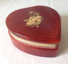 Ducceschi Regalo Alabaster Jewelry Trinket Powder Box Heart Shaped Hand ... - $19.95