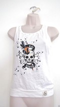 NWT LF LIFE AND LEGEND SCUL CROSSBONES, RHINESTONES CHIC TANK TOP, S SMA... - $24.70
