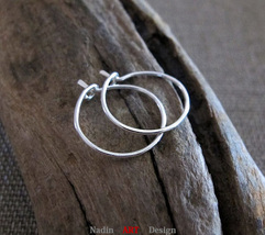 Small Hoops. Sterling Silver Hoop Earrings. Lightweight Earrings - $18.00