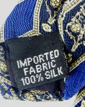 Geoffrey Beene Necktie Tie Silk Lot of 2 Black Blue Brown Geometric Swirls image 7