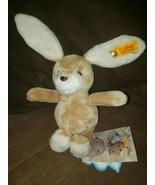 "Steiff Baby Bunny Rabbit 10"" Rattle Plush Stuffed Animal  Toy w. Tags - $28.01"