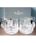 Waterford Lismore Roly Poly Old Fashioned Tumbler DOF Set / 4 Glasses Ne... - $354.90