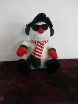 "Fiesta Swinging Snowman Plush Animated Musical 8.5"" with Music - $32.71"