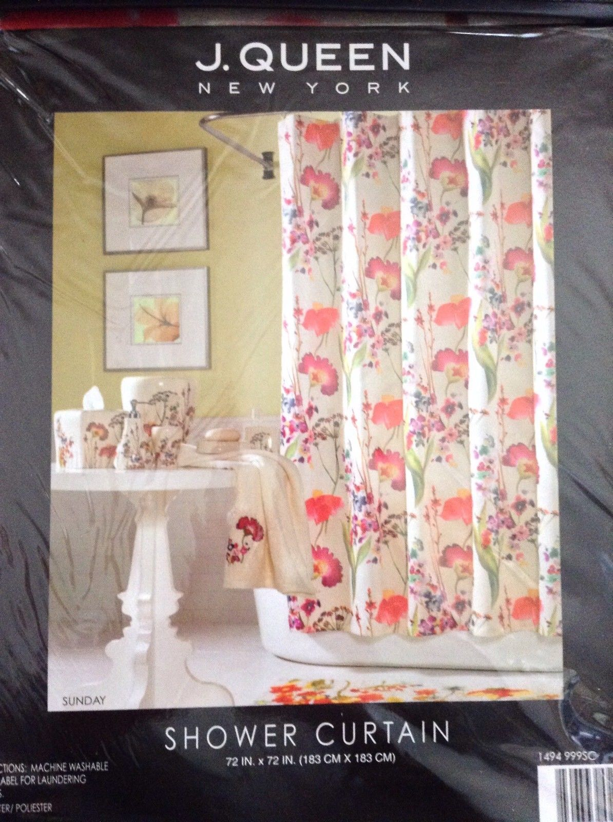 J Queen New York Floral Fabric Shower And 50 Similar Items