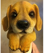 Lab PUPPY Dog Figurine Realistic Looking RESIN PET - $15.99