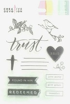 Creative Devotion Trust Acrylic Stamp Set - Great for Bible Journaling!