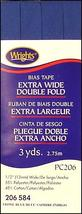 """Wrights 1/2"""" Extra Wide Double Fold bias tape PC 206 - 3 Stone Blue 206 584 - $7.55"""
