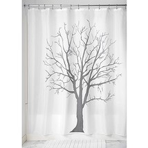 "InterDesign Tree Soft Fabric Shower Curtain, 72"" x 72"", Charcoal - $15.54"