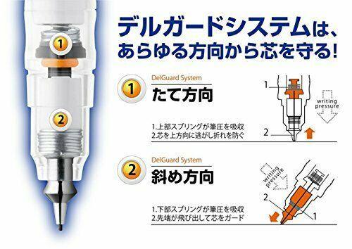 Zebra Mechanical Pencil Delguard 0.7mm, White Body (P-MAB85-W) image 5