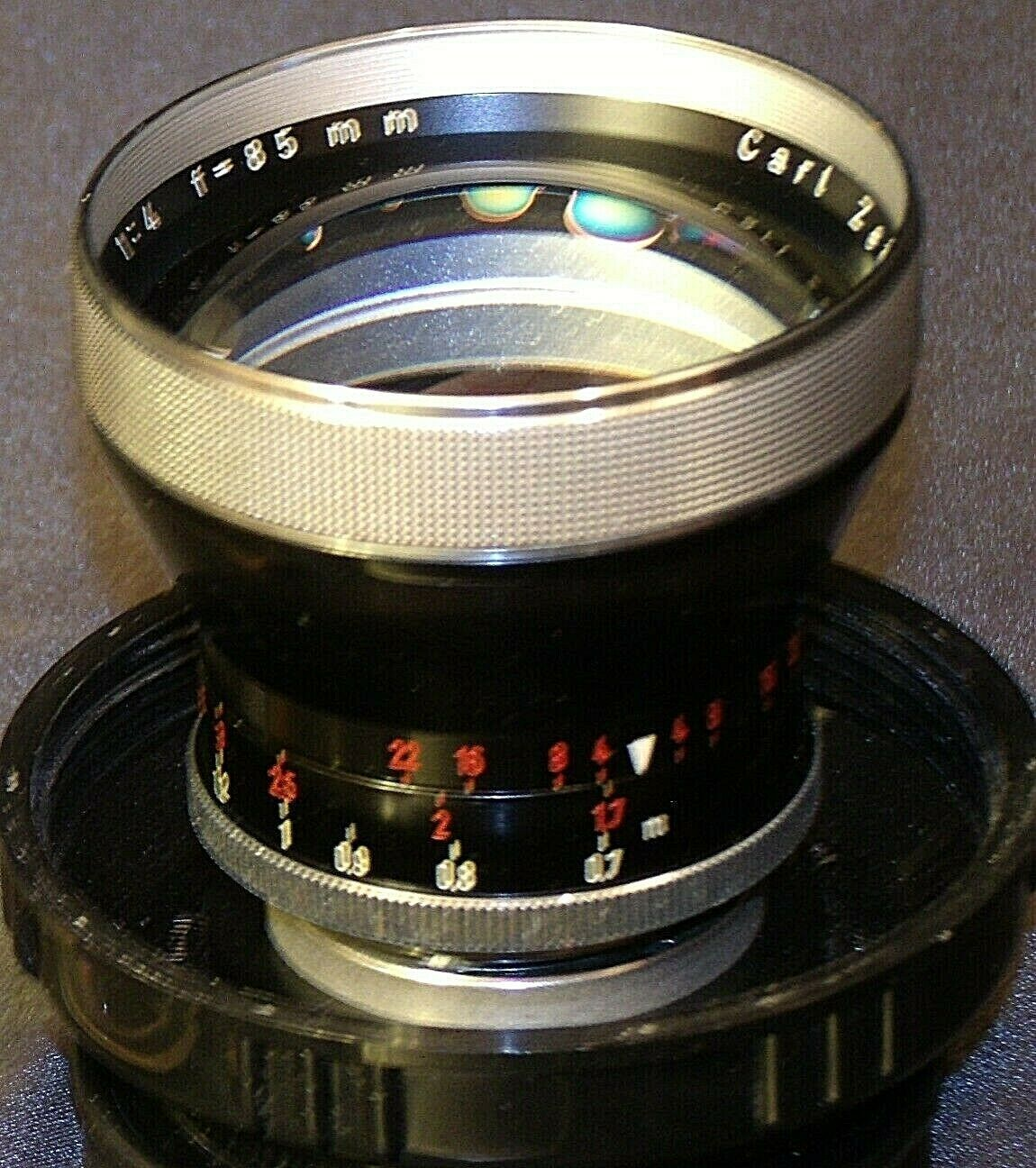 Carl Zeiss Pro-Tessar Lens f=85mm with fitted Zeiss Ikon Case AA-192032 Vintage