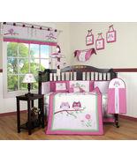 13 pcs Baby Boutique Entranced Forest Girl Nursery CRIB BEDDING SET - $129.99