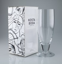 Kosta Boda 30 Cl Line Beer Glass 7021512 w/ Original Box Nice - $59.40