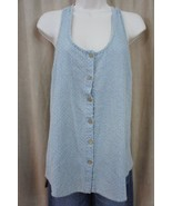 Teen Vogue for MStyleLab Juniors Top Sz S Blue Chambray Button Down Casual - $19.71