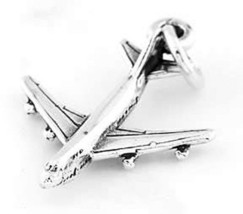 STERLING SILVER PASSANGER  AIRPLANE CHARM/PENDANT - $9.49