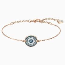 Authentic Swarovski Luckily Blue Bracelet inRose Gold - $74.05