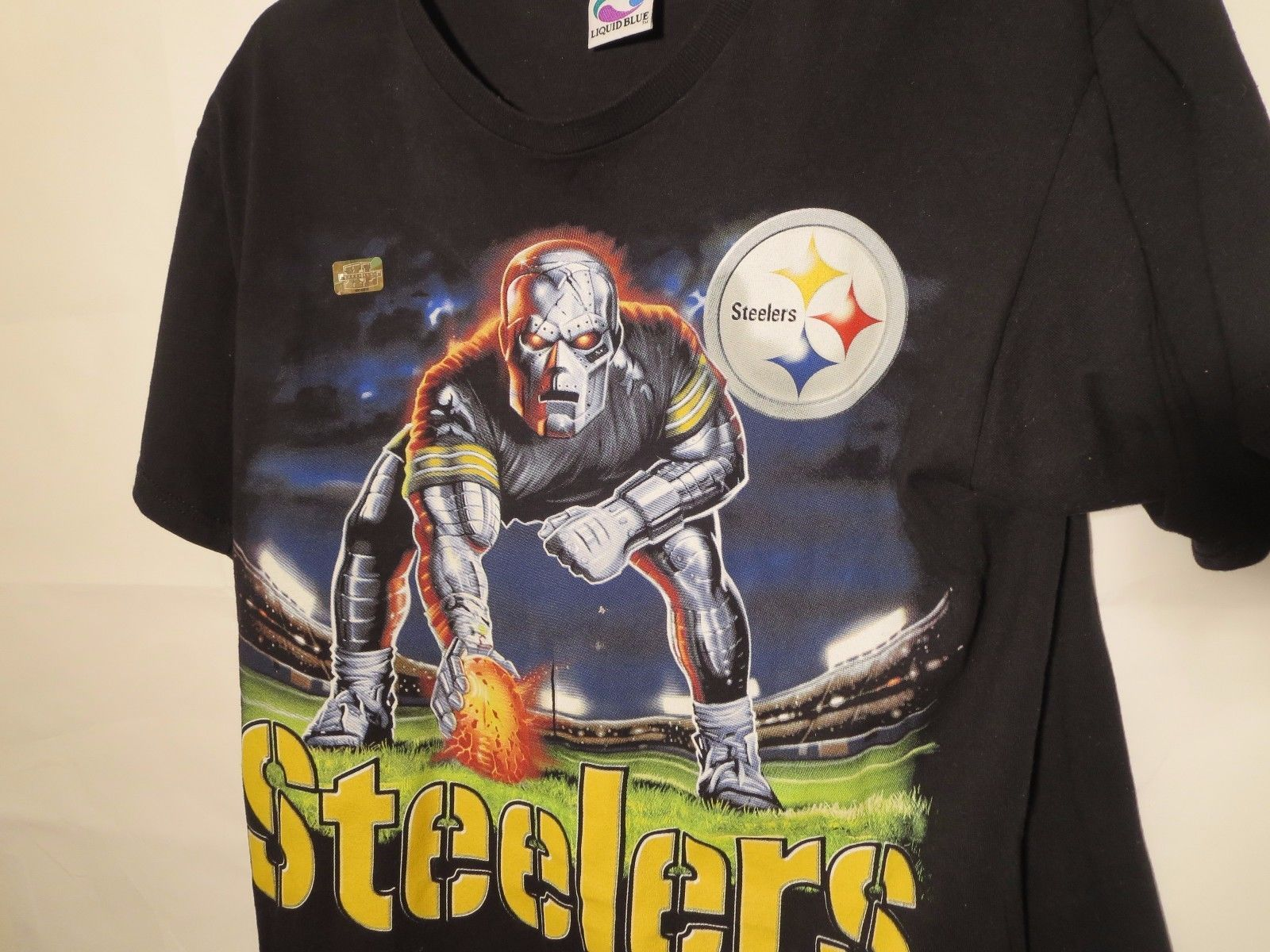 Pittsburgh Steelers Mens Size L Short Sleeve T-Shirt New Without Tag 100% Cotton